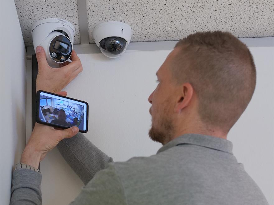 Camerabeveiliging testen met mobiele applicatie